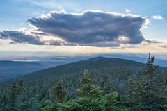 Panorama aerial view from Megantic Mount. In the Eastern Townships, Quebec Province, Canada royalty free stock photos