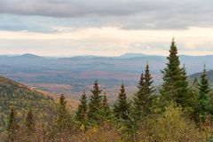 Panorama aerial view from Megantic Mount, Canada. Panorama aerial view from Megantic Mount in the Eastern Townships, Quebec Province, Canada stock photography