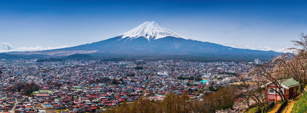 Panorama Aerial view of mt.Fuji Stock Photography