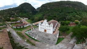 Free Panorama Aerial View Of Catholic Church In La Campa, Lempira, Honduras. Stock Photography - 194003042