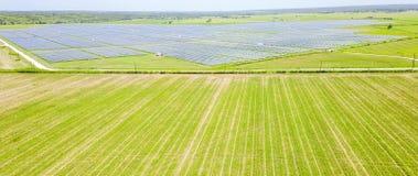 Solar farm aerial in Austin, Texas, USA Royalty Free Stock Photography