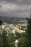 Panorama aerial view of Tbilisi Stock Photography