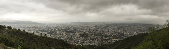 Panorama aerial view of Tbilisi Royalty Free Stock Photos