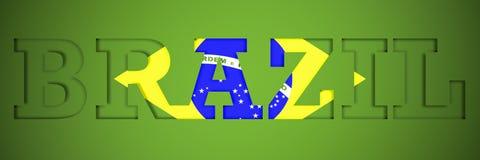 Panorama- affisch av ordet Brasilien Arkivfoto