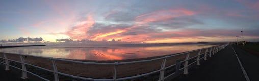 Panorama- afton Royaltyfri Foto