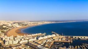Panorama Agadir, Maroko Zdjęcie Stock