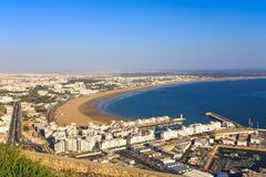 Panorama of Agadir, Morocco. A view from the mountain Royalty Free Stock Photo