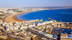 Panorama of Agadir, Morocco. A view from the mountain stock photography