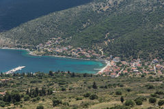 Panorama Agia Effimia miasteczko, Kefalonia, Grecja Fotografia Stock