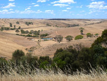 Panorama agricultural land. Royalty Free Stock Photography
