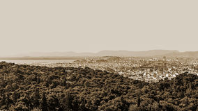 Panorama of Ahtens, Royalty Free Stock Photography