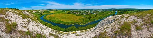 Panorama Aidar de River Valley Imágenes de archivo libres de regalías