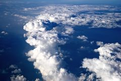 Panorama from the aircraft royalty free stock image