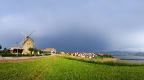 Panorama of Aixerrota mill in Getxo Stock Image
