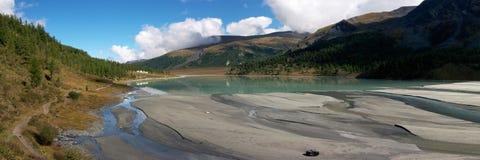 Panorama Akkem lakes Royalty Free Stock Images