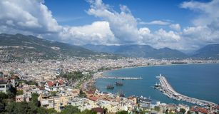 Panorama of Alanya, Turkey Royalty Free Stock Photo