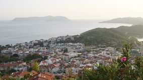 Panorama of Alanya Turkey - view from top.  stock video