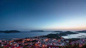Panorama of Alanya Turkey - view from top Time lapse 4k. Panorama of Alanya Turkey - view from top. Time lapse 4k stock video