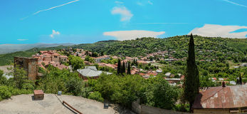 Panorama of Alazani Valley, Georgia, close to Tbilisi Royalty Free Stock Photos