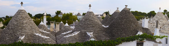 Panorama of Alberobello, Apulia (Italy). Stock Image