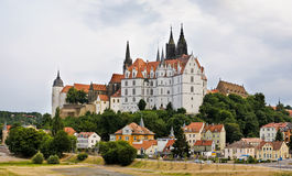 Panorama with Albrechtsburg in Meissen stock photos