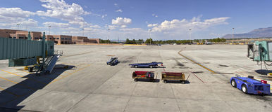 Panorama of Albuquerque airport. Royalty Free Stock Photo