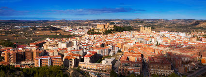 Panorama of Alcaniz  with main landmarks Stock Images