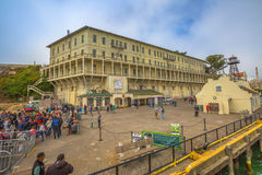Panorama of Alcatraz Stock Photos