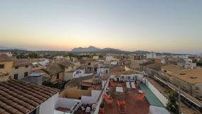 Panorama of Alcudia Old Town in Majorca Mallorca stock footage