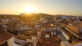 Panorama of Alcudia Old Town in Majorca Mallorca Royalty Free Stock Photo