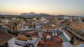 Panorama of Alcudia Old Town in Majorca Mallorca Royalty Free Stock Photos