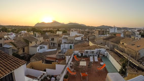 Panorama of Alcudia Old Town in Majorca Mallorca Royalty Free Stock Photography