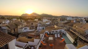 Panorama of Alcudia Old Town in Majorca Mallorca Royalty Free Stock Images