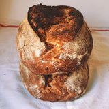 Panorama alemán del pan de pan amargo Fotos de archivo libres de regalías