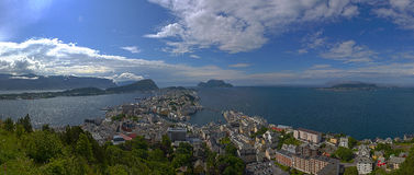 Panorama of Alesund Royalty Free Stock Photos