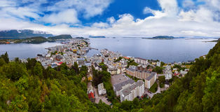 Panorama of Alesund Norway Stock Images