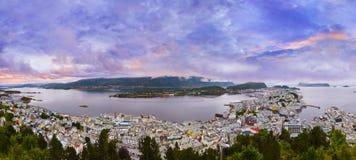 Panorama of Alesund - Norway Royalty Free Stock Image