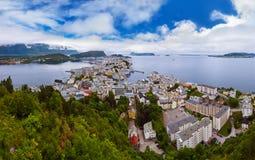 Panorama of Alesund Norway Royalty Free Stock Image