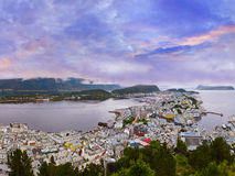 Panorama of Alesund - Norway Royalty Free Stock Photography
