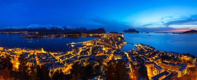 Architecture of Alesund town in Norway Royalty Free Stock Images