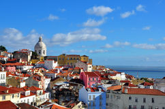 Panorama of Alfama Royalty Free Stock Images