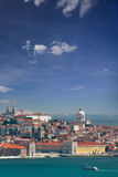 Panorama of Alfama and Graca, cityscape of Lisbon, Portugal, Eur Royalty Free Stock Photography