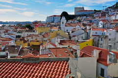 Panorama of Alfama Royalty Free Stock Image