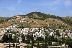 Panorama, Alhambra , Andalusia, Granada, Spain. Royalty Free Stock Image