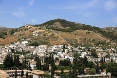 Panorama, Alhambra , Andalusia, Granada, Spain. A Picture of the Alhambra, Andalusia, Granada,  Spain Royalty Free Stock Image