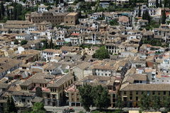 Panorama, Alhambra , Andalusia, Granada, Spain. Stock Photography