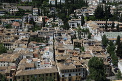 Panorama, Alhambra , Andalusia, Granada, Spain. Royalty Free Stock Photography