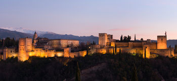 Panorama of Alhambra Royalty Free Stock Images