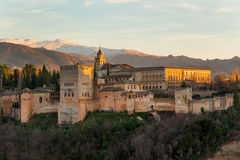Panorama of Alhambra Stock Photo