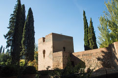 Panorama of Alhambra castle in granada Royalty Free Stock Photography